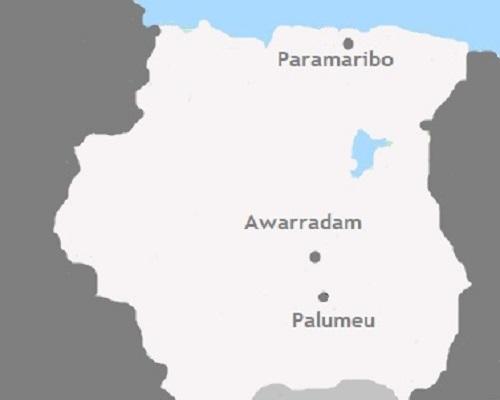 Kaart Suriname