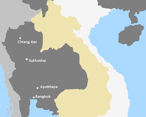 Kaart Thailand
