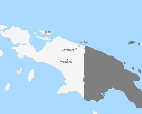 Kaart West Papua
