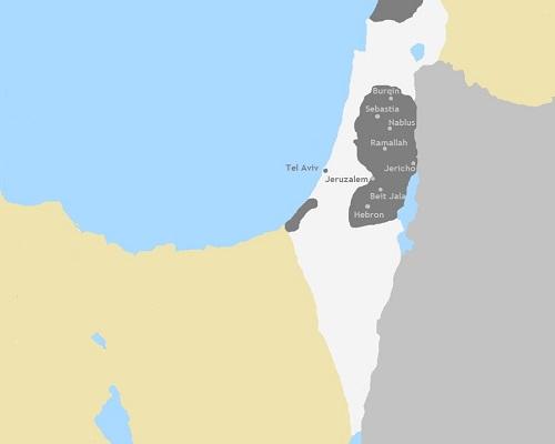 Kaart Palestina