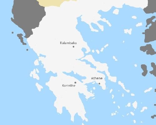 Kaart Griekenland: Orthodox Pasen