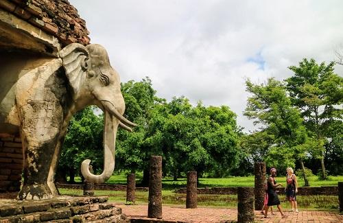 Sukhothai tempel, Thailand
