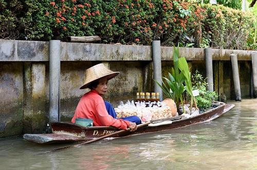 Thailand drijvende markt