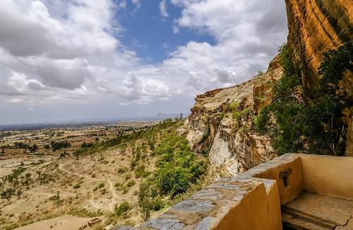 Berggebied in Ethiopië