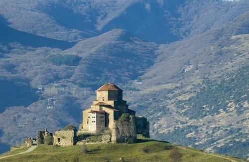 Mtskheta Jvari klooster, Georgië