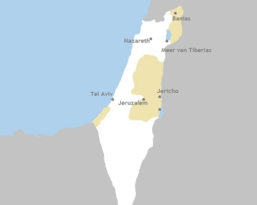 Kaart jongerenreis Israël