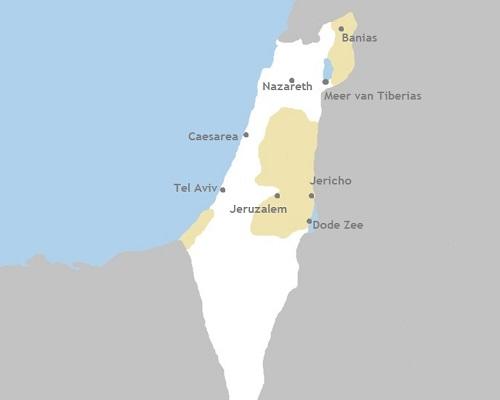 Kaart koorreis Israël