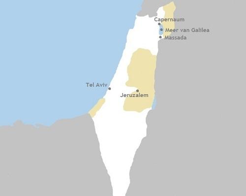 Kaart Grensverleggend Israël